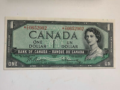Canada 1954 $1 BC-37ba Modified Replacement Bank Note