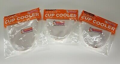 Dunkin Donuts 2018 Iconic Cup Cooler Koozie CHOICE of SIZE White FREE SHIPPING