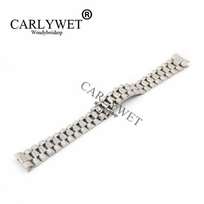 20mm Silver Hollow Curved End Screw Links Stainless Steel For President Band