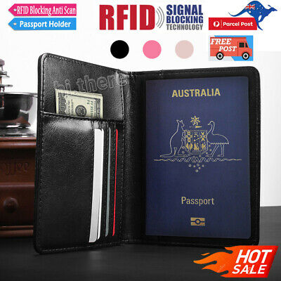 PU Leather RFID Blocking Passport Travel Wallet Holder ID Cards Cover Case NEW