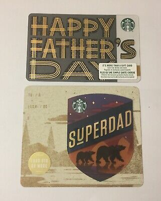 Set Of 2 Starbucks 2019 Canada Father's Day Card
