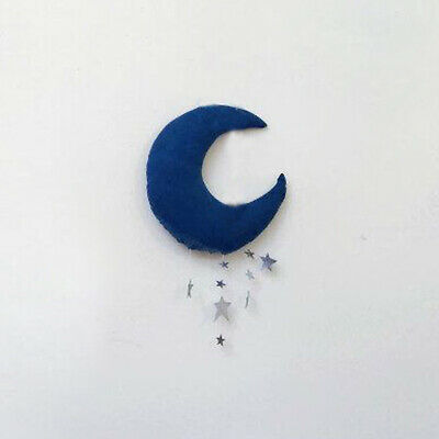 Home Household Wall Backdrop Hanging Moon Stars Stuffed Decoration for Baby E5K9