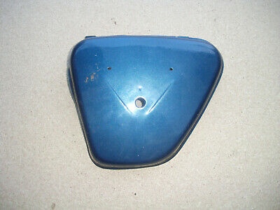 Honda CB CL 450 K, Seitendeckel original Lack blau, side cover, NOS