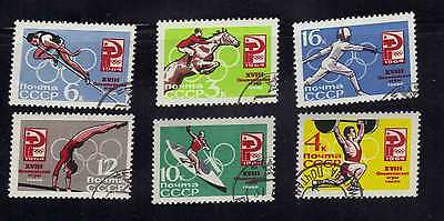 RUSSIA & USSR 1964 -ZNo Scott 2921-26 - Summer Olympic Games, Tokyo
