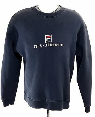 Vintage 90's FILA Women's Crewneck Sweater Jumper sz L | Made in Canada VTG