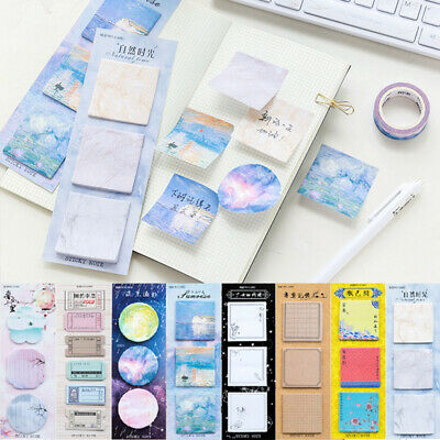 Cute Colorful Stationery Memo Pad Sticker Marker Sticky Notes Label Bookmark New