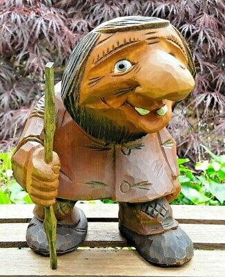 Handsome!  Norway  Hand Carved Wooden TROLL  SIGNED!  +Masterfully Crafted+ OIEN