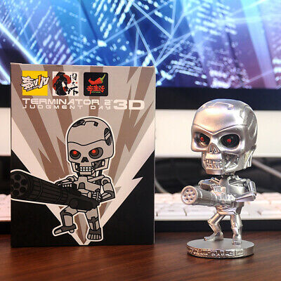 """T800 Terminator 2 Judgment Day 3D Bobble Head Figure 4"""" Toy Doll"""