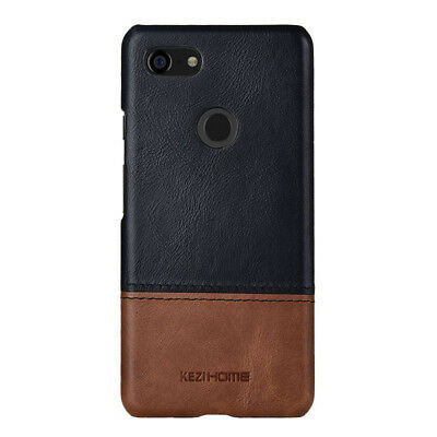 KEZiHOME For Google Pixel 3A/3A XL Genuine Leather Hard Case Back Cover