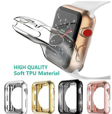 for Apple Watch 3/2/1 Protective TPU Ultra-Thin Cover Screen Protector Face Case