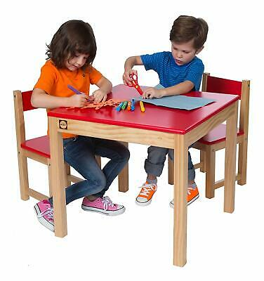 Childrens Kids Wooden Play Table and Chairs Nursery Furniture Sets Playroom