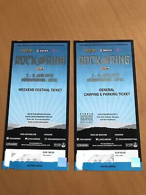 Ticket Rock am Ring 2019 Weekend und Ticket Camping / Parken Festival 7.-9.Juni