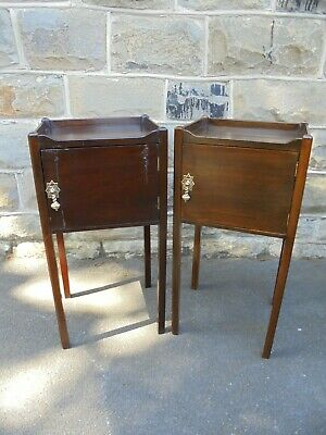 Antique Pair Mahogany Bedside Tables Bedside Cabinet
