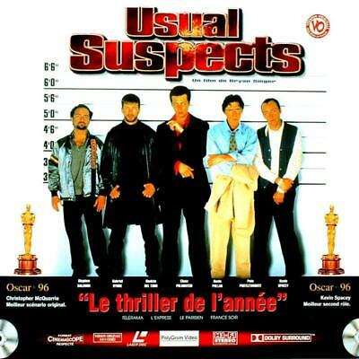 USUAL SUSPECTS WS VF PAL LASERDISC Kevin Spacey