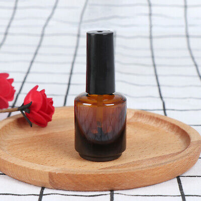 15ml empty nail polish bottle brown glass with brush to fill manicure tools ^S