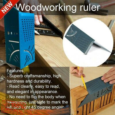 3D Mitre Angle Square Woodworking Ruler Measure Tool Multifunction