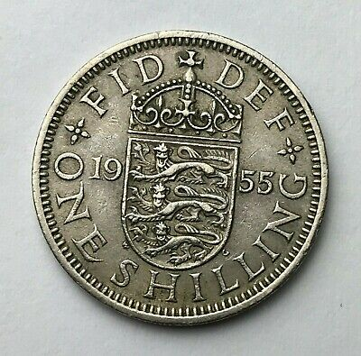 Dated : 1955 - One Shilling - Coin - Queen Elizabeth II - Great Britain