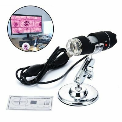 MICROSCOPIO USB DIGITALE Zoom 1600X PC NOTEBOOK FOTO VIDEO 8 LED con STAFFA