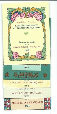 Timbre France NEUF**Carnets Croix-Rouge 1961/1965 CR2010-2011-2012-2013-2014 COT