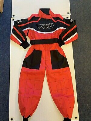 Wulfsport Cub Race Suit Red Size Large Motorbike Motocross MX Leisure