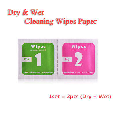 Phone LCD Screen Dust Removal Tool Dry Wet Cleaning Wipes Paper  Y
