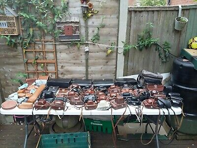Huge Joblot Vintage Camera And Flash Cases As Seen