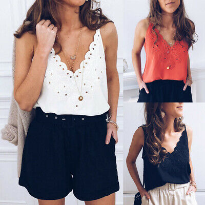 Fashion Women's Sexy Vest Top Sleeveless Shirts Blouse Summer Casual Tank Tops