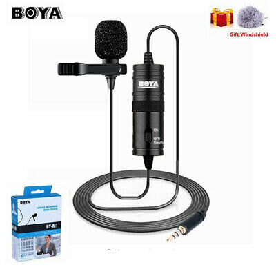 BOYA BY-M1 3.5mm Audio Lavalier Lapel Microphone F iPhone DSLR Camera Recorder