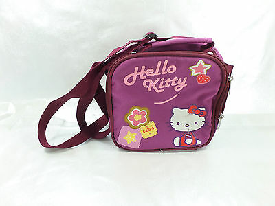 Satchel Messenger Hello Kitty Burgundy Used Slightly Angles