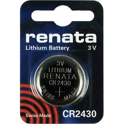 Renata CR2430 Batteries Lithium Battery 3V Button/Coin Cell CR 2430 DL2430