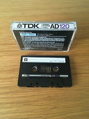 TDK AD 120 Audio Cassette Tape - 120 Mins - Archive Clearance - Free P&P