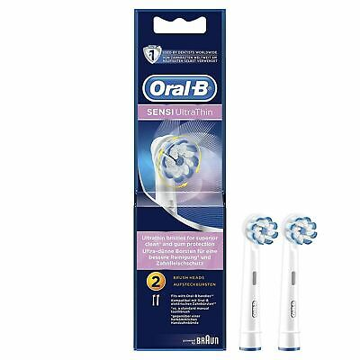 2x Oral-B Sensi Clean Ultrathin Toothbrush Heads Replacement Refill  (4 Heads)