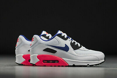watch 64325 8969c Nike Air Max 90 Essential Ultramarine White Solar Red Infrared 537384-136 Sz