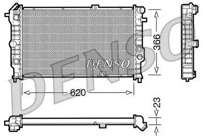 DENSO Radiator DRM20060 Engine Cooling Part Genuine DENSO OE Part