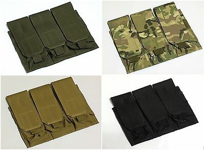 New Tactical Military Molle Belt Clip 5.56 .223 Triple Magazine Pouch Airsoft