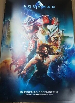 Exclusive Aquaman A3 Odeon poster - DC (2018)