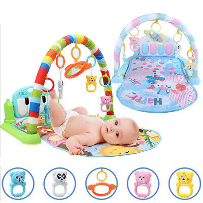 3 in 1 Fitness Baby Gym Play Mat Lay Play Music And Lights Fun Piano 2 Colors