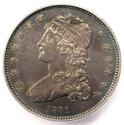 1831 Capped Bust Quarter 25C Coin - Certified ICG AU58 - $1,440 Value!