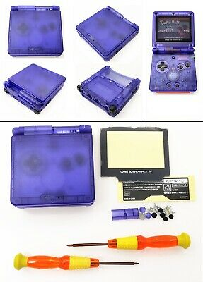 Transparent Blue Clear Shell Housing Case For Game Boy Advance SP GBA SP