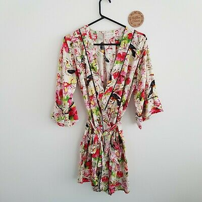 Peter Alexander Floral Robe - Size XS