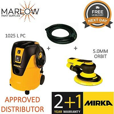 Mirka Pros650Cv Air Sander & 1025 L Pc Dust Extractor Bundle *W/Extraction Hose*