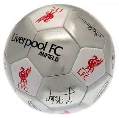 Liverpool FC Size 5 Football Silver