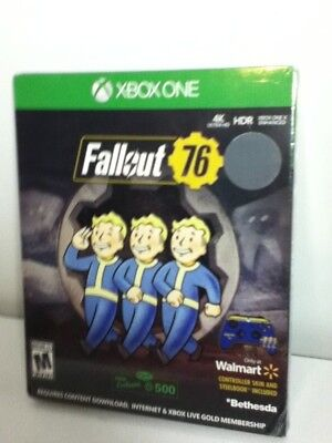 Fallout 76 EXCLUSIVE Edition SteelBook Controller Skin Xbox One + 500 atoms-FS