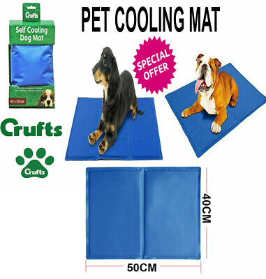 Gel Cooling Mat for Dog Cat Pet Self cooling pillow Crufts Hot SUMMER Bed XLARGE