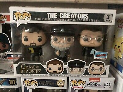 Game Of Thrones 'The Creators' 2018 NYCC Funko (OFFICIAL) George RR Martin