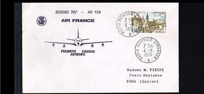 [FS111] 1973 - France Air France first flight - Transport - Airplanes - Paris-Do