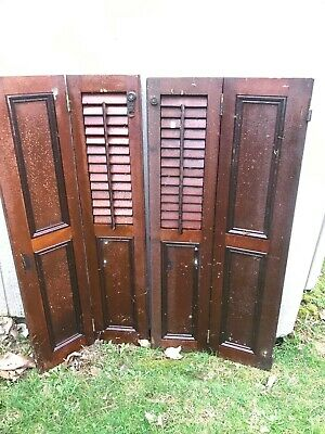 Wooden antique shutters from 1841