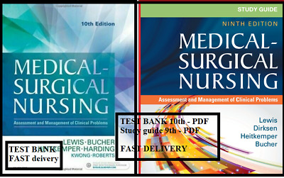 🔥 TEST BANK + STUDY GUIDE🔥 Lewis Medical-Surgical Nursing 9 + 10th PDF⚡️FAST