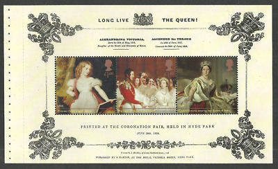 Gb 2019 Royalty Queen Victoria Portraits Set Of 2 Booklet Panes Mnh