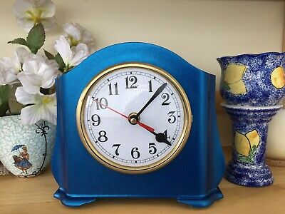 Art Deco 1950s SMITHS ENFIELD  BAKELITE MANTEL CLOCK (Converted to Quartz)